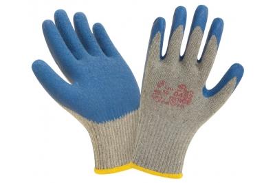 Перчатки нейлоновые с рельефной латексной ладонью