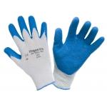 Перчатки стекольщика ХБ 10 класс, c рифленым покрытием из натурального латекса «Торо» (перчатки стекольщика)