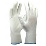 Перчатки нейлоновые белые с ПУ покрытием