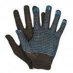 Перчатки трикотажные х/б 10 кл. с ПВХ, 180 текс,  черные